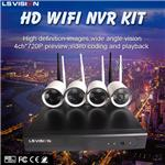 LS VISION Plug and play 720P HD Video 4CH 720P WIFI NVR Kit 2015 new security product