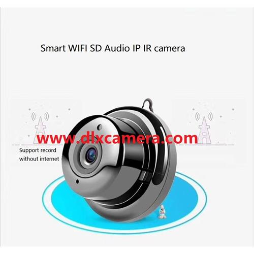 Mini 720P HD Wall/Door mounted Smart wireless 128G SD Audio IP IR camera
