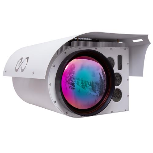 Thermal Infrared Night Vision EO/IR PTZ 135x Surveillance Camera HD MWIR Gyro Stabilization + LRF