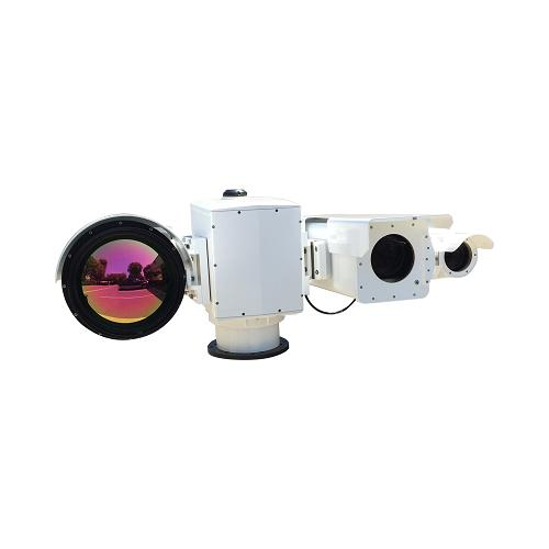 50km Long Range Thermal MWIR PTZ surveillance Thermal Camera  Gyro + 1-5km Laser IR Night Vision