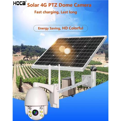 1920X1080p 2MP Solar 4G 5xzoom PTZ SD Dome Camera with Two Ways Audio and APP