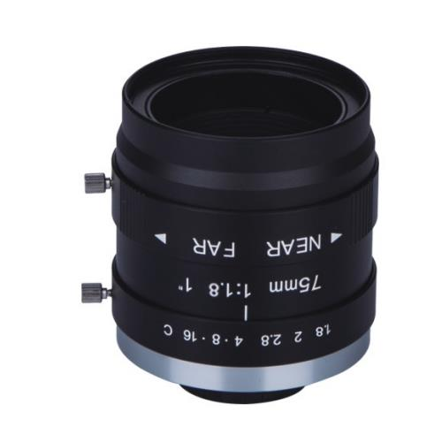 "large format 1"" SA-7518L machine vision lens"