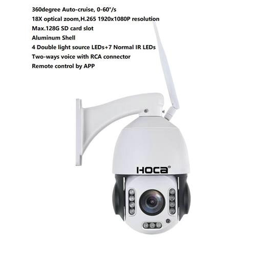 1920X1080P water-proof 20X zoom WIFI IP IR 128G SD card Two ways audio PTZ speed dome camera