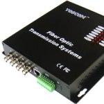Video Transmitter over Fiber - 4 Channels Video & Data