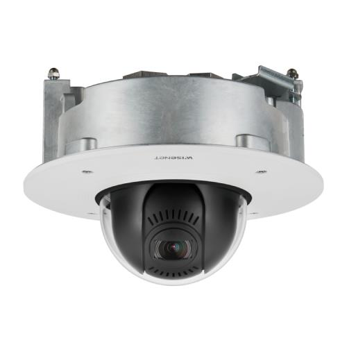 Wisenet XND-6081FZ 2MP Vandal-Resistant Flush Mount Network Dome PTRZ Camera