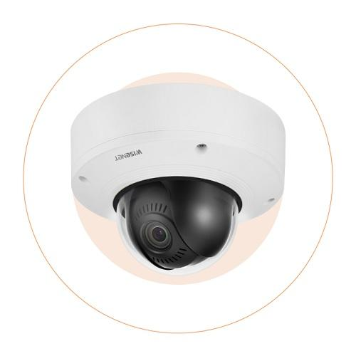 Wisenet XNV-8081Z 5MP Vandal-Resistant Outdoor Network Dome PTRZ Camera