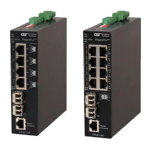 Omnitron RuggedNet Industrial Power over Ethernet Switches