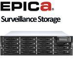 EPICa EP-3164D-G1S3 Surveillance Storage - 3U 16bays, iSCSI-SAS/SATAII Redundant RAID Subsystem
