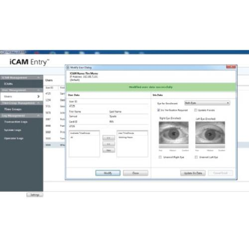 IrisID Software iCAM Entry