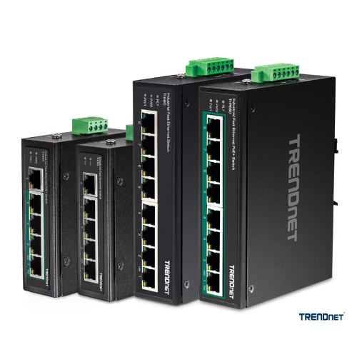 TRENDnet Industrial Fast Ethernet Din-Rail Switches