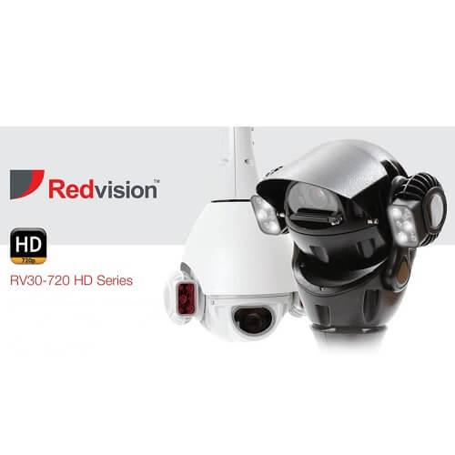 Redvision X-Series Ruggedised IP PTZ Domes RV30-720 HD Series