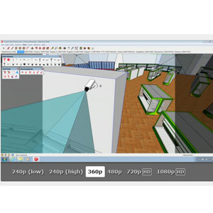 Axis SketchUp 3D CAD software - Axis Communications (S) Pte